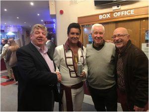 Clive Gowers, Elvis Presley, Trevor Norris and John Crocker
