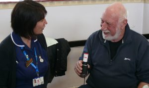 Nurse Yvonne Preston with Jaywick resident Steve